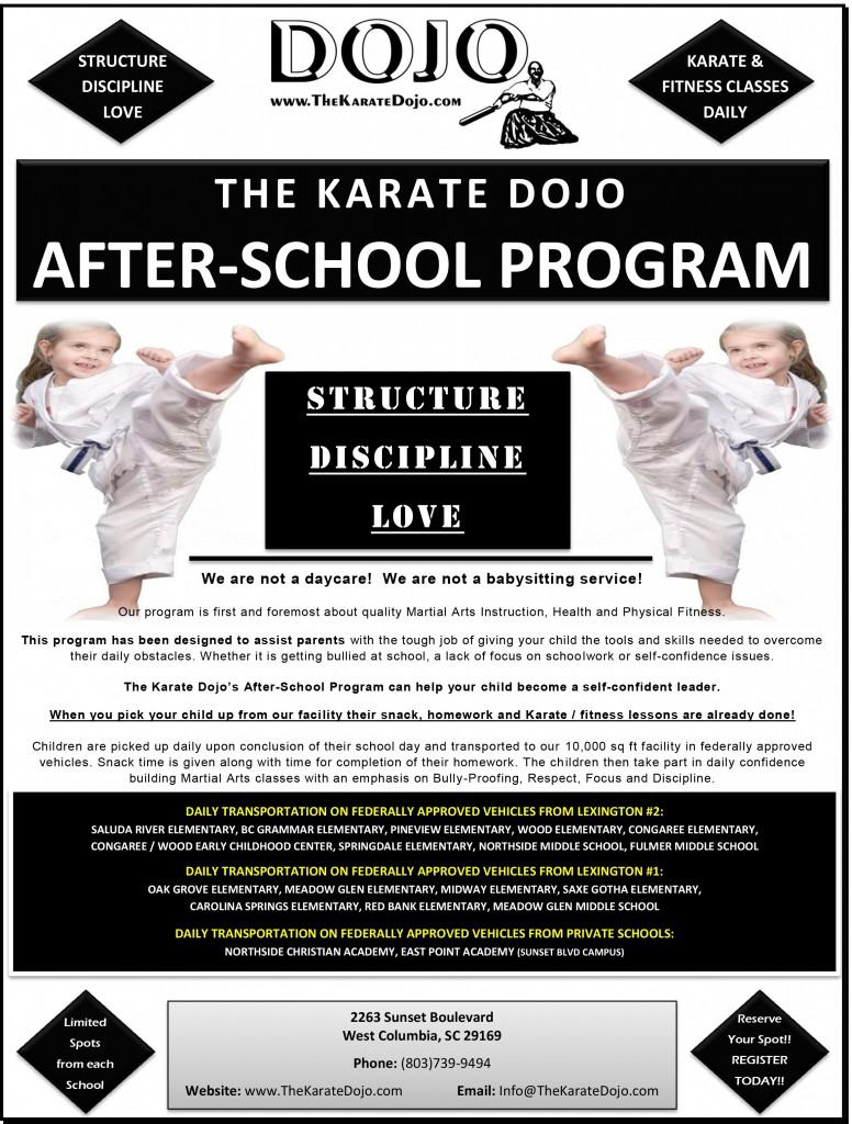 2016-2017 Kicking Kids After-School Karate Kamp