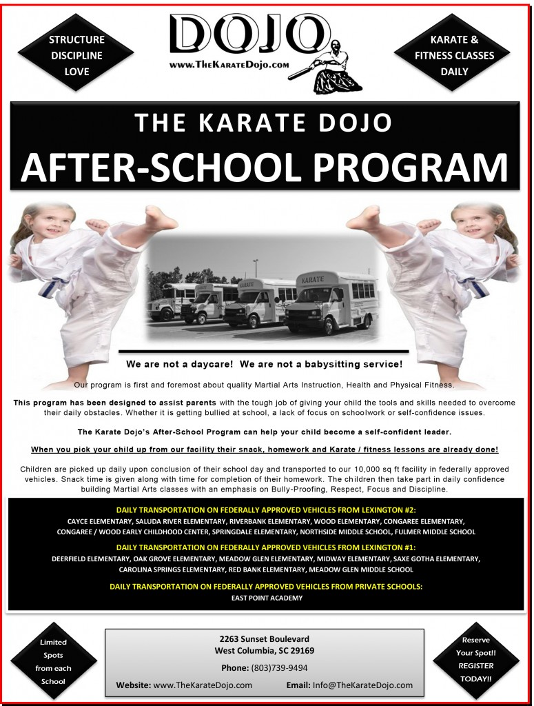 2018-2019 Kicking Kids After-School Karate Kamp
