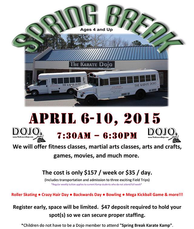 Karate Dojo Spring Break Camp