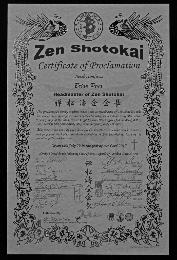 Zen Shotokai Proclamation (bw) (web)